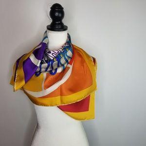 Salvatore Ferragamo Colorful Silk Printed Scarf
